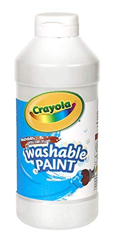 Crayola Washable Paint, White Art Tools, Plastic Squeeze Bottle, Bright, Bold Color, 16 Ounce, Pint