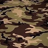 Jersey Vera, camouflage, grün (50cm x 160cm)