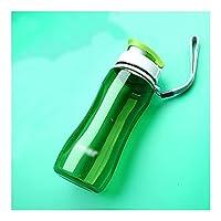 ウォーターボトル 水のボトルスポーツの水のボトル広い口のプラスチックウォーターボトルキャンプハイキング旅行スポーツ屋外 ボトル (Capacity : 560ml, Color : Green)