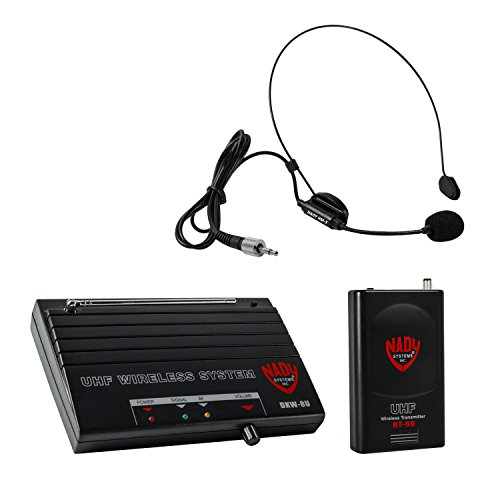 Nady DKW-8U Wireless Guitar/Instrument UHF System-includes wireless bodypack, receiver, AC adapter, guitar cable and audio cable-Easy setup-Electric guitar, bass, or other instruments with a pickup