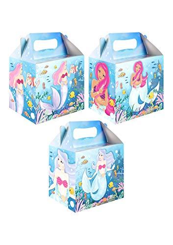 Meerjungfrau Geburtstags Party Box Mitgebsel Geschenkverpackung- 12er Set