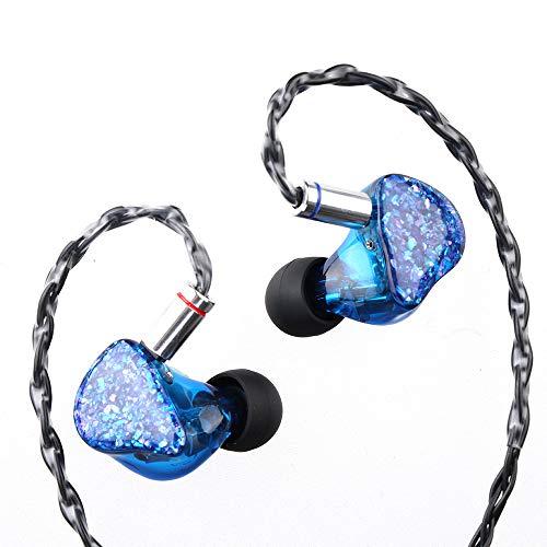 ThieAudio Legacy3 2BA+1DDハイブリット型HiFiインイヤーモニター オーディオマニアために設計され トリプルドライバが搭載され 人間工学に基づいてデザイン 肌に完全無害な樹脂筐体とフェイスプレート 重低音 及びバランスなサウンド リケーブル可能 ノイズキャンセリング機能をもってオリジナルHiFiイヤホン (Blue)