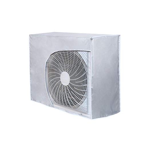 HOMEWINS - Cubierta Exterior de Aire Acondicionado Antipolvo antiniebla Impermeable Funda climatizadora Exterior (Correcto, 80 * 26 * 57cm)