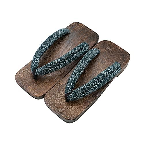 YXCKG Zoccoli di Legno Giapponesi per Sandali da Uomo Giapponesi, Stage Performance Geta Pantofole in Legno, Pantofole da Uomo, Pantofole Scarpe da Esterno per Interni, Sandali Infradito