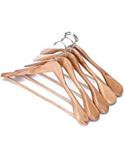 Ultrazon® Wooden Wide Shoulders and Round Bar Hanger for Coat | Suit | Jacket | Dress | Trouser | Pants | Blazer (5)