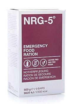 Restauration d'urgence - Ration d'urgence, NRG-5, 1 Carton avec 24 Packs a 500g (9 Verrou)