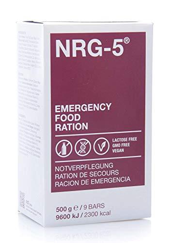 NRG-5 Langzeitnahrung, Notverpflegung EPA lactosefrei vegan 24 x 500 g für Outdoor, Camping, Sport, Notfallvorrat