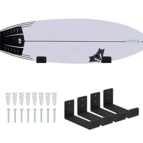 Mind and Action Solid Aluminum Surfboard Wall Rack, Display...