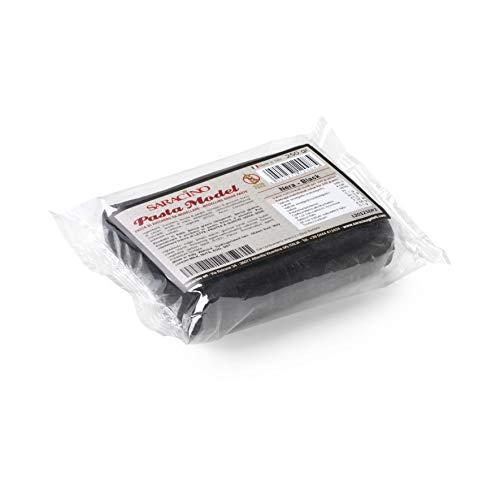 Saracino Pasta Di Zucchero Model Nera Per Modellaggio Da 250 g Senza Glutine Made In Italy