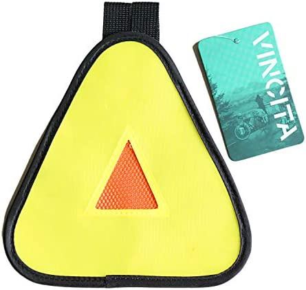 Vincita Reflective Yield Symbol with Hook Loop Strap High Visibility for Safety at Night Safety product image