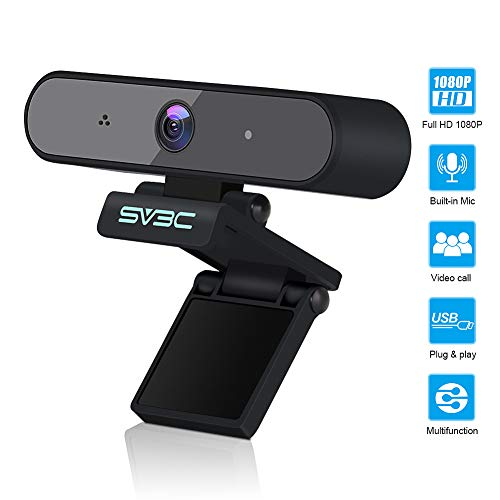 SV3C USB Webcam, Ultra HD 1080P Webkamera PC Laptop Clip-on Webcam mit integriertem Mikrofon für Live-Streaming, Spiele, Computer-PC Laptops Skype Vedeo Call