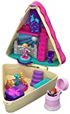 Polly Pocket Pocket World Birthday Cake Bash Compact with 3 Reveals, 3 Accessories, Micro Polly & Lila Dolls and Sticker Sheet; for Ages 4 and Up