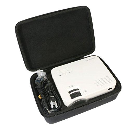 Per dbpower LCD Mini Proiettore da elephas 1500 Lumen Proiettore Video Multimedia Home Theater EVA Borsa da viaggio Custodia caso scatola di Khanka. (unico caso)