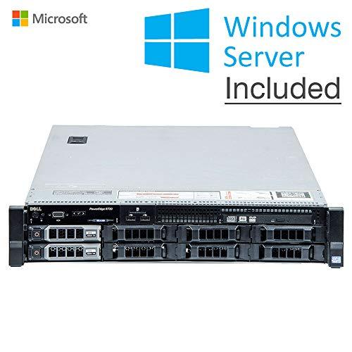 DELL Power Edge R720 8 x LFF-Senza Festplattendeckel, ohne Frontabdeckung, 2 x 6 Core E5-2620 V2, 32 GB DDR3ECC Reg, 2 x 3 TB, H710 Raid Ctrl, Rack 2U. Win Server Standard 2019 (zertifiziert)