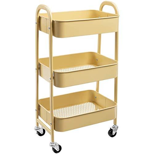 Carrito de almacenamiento DOEWORKS de 3 niveles con ruedas y