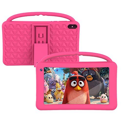 Kinder Tablet Spielazeug 7 Zoll IPS HD-Display WiFi QuadCore Android 10.0 Pie Tablet PC für Kinder GMS-Zertifiziert 2 GB + 32 GB Tragbarer Proof Silikonhülle für Kinder