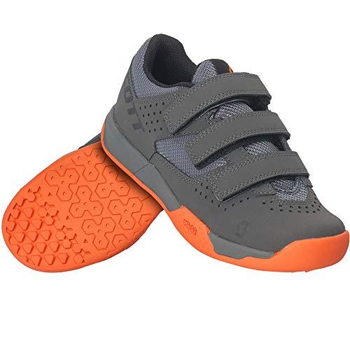 Scott Jungen Unisex Kinder MTB AR Kids Strap Sneaker, Grey Orange, 34 EU
