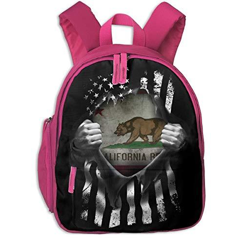 ADGBag Mochila para niños Mochila Escolar California Historic Bear Flag Pull Apart Children