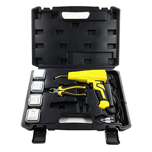 GMKD Plastic Welding Machine, 100W Hot Stapler with 400 pcs Staples, Car Bumper Repair Kit, Auto Body Collision Cracks Repairing Machine