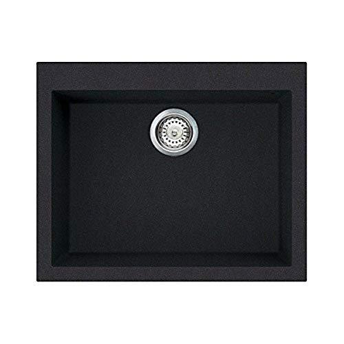 Elleci Quadra 110 Lavelli Compositi, Pietra, Nero Intenso G40, 61x50x21 cm