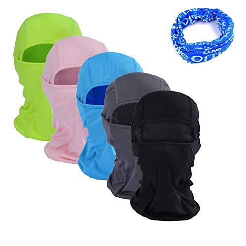 Gofriend Multifunctionele bivakmuts masker voor dames en heren - ideaal voor motorfiets, skiën, fietsen, lopen, kamperen, wandelen - zomer of winter, naadloos halfgezichtsmasker