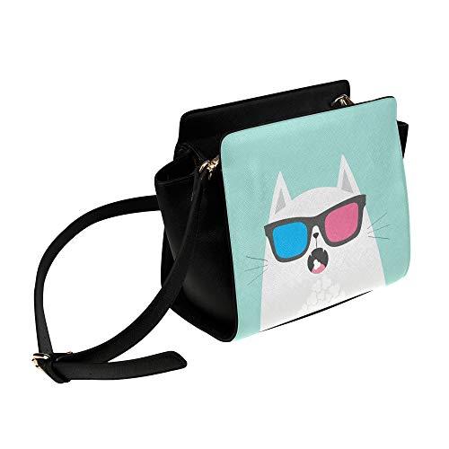 Rtosd Raffreddare Cat Wear Occhiali Satchel Bag Crossbody Borse Borse da viaggio Tote Duffel Strap Shoulder Bags Bagaglio Organizer Per Lady Girls Womens Work Shopping Outdoor