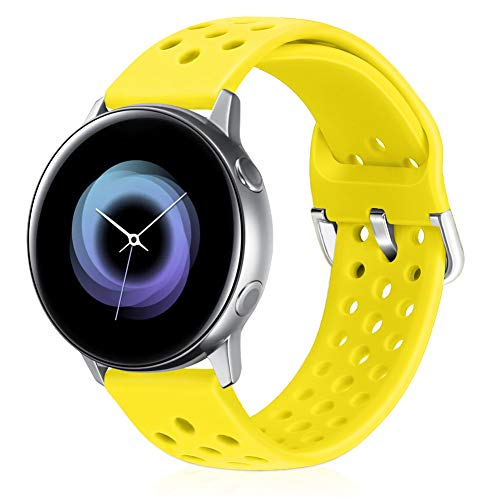 Runostrich 22mm Silikon-Schnellwechselarmband, Ersatz-Uhrenarmbänder Kompatibel mit Galaxy 46mm, Gear S3 Frontier/Classic, Fossil Gen 5/Herren/Damen Gen 4 (22mm, Blitz)