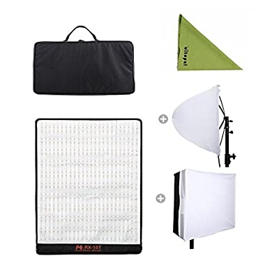 Falcon Eyes RX-18T (New Packaging) 62W Photo Light Portable LED Photo Light Flexible LED Photo Light with Diffuser (RX-18T Kit with Soft Box)