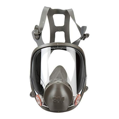3M Safety 142-6900 Safety Reusable Full Face Mask Respirator, Dark Grey, Large