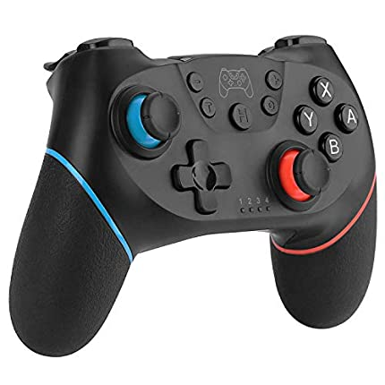 Diswoe Mando Compatible para Nintendo Switch, Wireless Bluetooth Pro Controller Inalámbrico Apoya Vibración, Turbo y Giroscopio, Controlador Compatible con Nintendo Switch/Switch Lite/PC