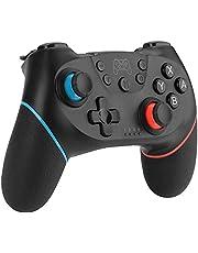 Diswoe Wireless Controller voor Nintendo Switch, Bluetooth Wireless Pro Controller voor Nintendo Switch, Switch Controller Switch Afstandsbediening Gamepad met verstelbare Turbo Dual Shock Gyro Axis