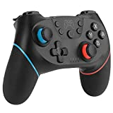 Diswoe Mando Compatible para Nintendo Switch, Wireless Bluetooth Pro Controller Inalámbrico Apoya Vibración, Turbo y Giroscopio, Controlador Compatible con Nintendo Switch/Switch Lite/PC