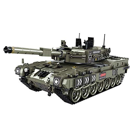 Oeasy Kit de modelo de tanque, 1747 piezas WW2 Leopard alemán 2A4 tanque militar de batalla principal para niños adultos, bloques de construcción compatibles con Lego Technic