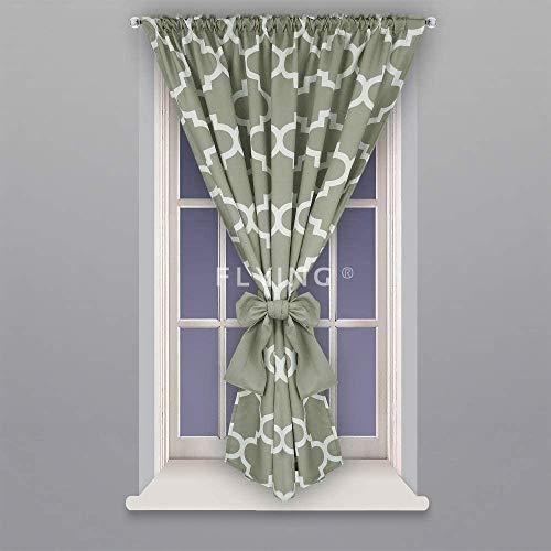 FKL DESIGN Home Deco Fertiggardine Fenstergardine Gardine Vorhang Kräuselband Smokband Store Marokkanisch Maroko 145x160 cm LB-131 (Grau)