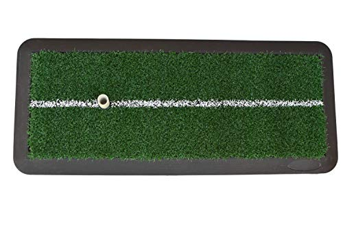 Silverline Golf Trainingsausrüstung Abschlagmatte, grün/schwarz, 42 cm x 15 cm