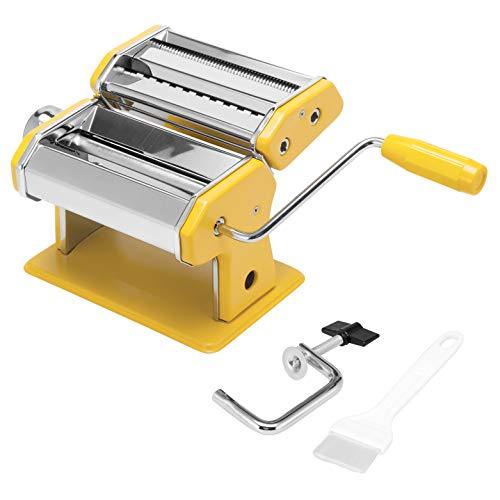 Bremermann Máquina de pasta de acero inoxidable para espaguetis y lasaña (7 niveles), máquina para hacer pasta