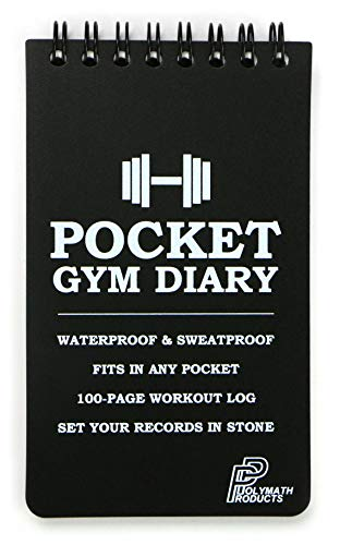 Polymath Products universalgelehrter Produkte Pocket Gym Diary -100-page Workout Log. Handliche Größe (7,6 x 12,7 cm) – Passt in Jede Tasche. 100% Wasserdicht und Schweiß-Fitness Training Tagebuch.