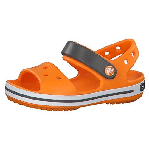 crocs Kinder Sandale Crocband 12856 Blazing Orange/Slate Grey 34-35