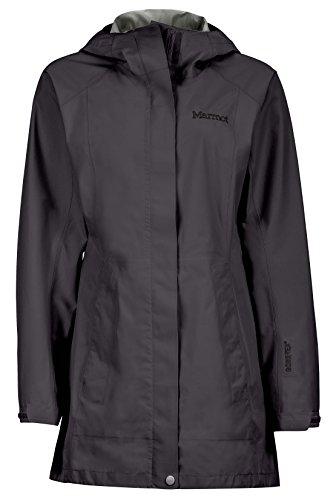 Marmot Essential Women's Lightweight Waterproof Rain Jacket, GORE-TEX with PACLITE Technology, Jet Black, Medium