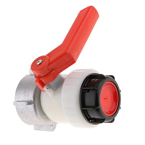 Sharplace Robinet à Bille Vissable DN50 50mm 2L IBC pour Réservoir, IBC - Diamètre d'entrée 80mm