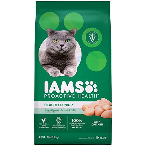 IAMS PROACTIVE HEALTH HEALTHY SENIOR Dry Mature Cat Food with Chicken Cat Kibble, 7 lb. Bag