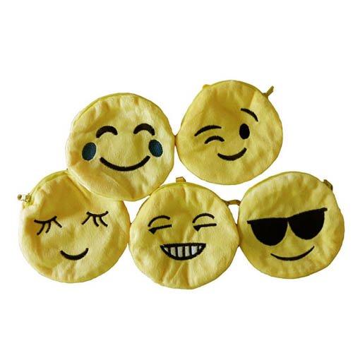 Unbekannt Geldbörse mit Smily-Motiv, 1 STK. - Portmonai Münzbörse Emoji Kindergeburtstag Mitgebsel