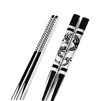 ステンレススチールブラックドラゴンFishs箸中国のロングノンスリップ合金寿司橋チョップは、Set中国のギフト食器スティック 家庭用箸 (Color : 13)