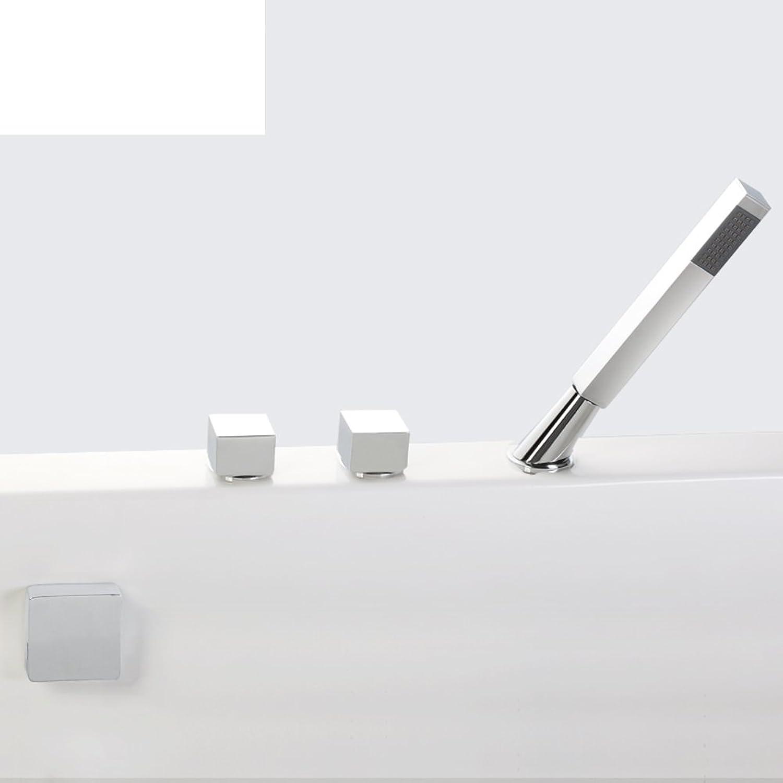 Messing thermostatischen Bad Kit Mischbatterie drei-Satz Wasserfall Badewanne Dusche
