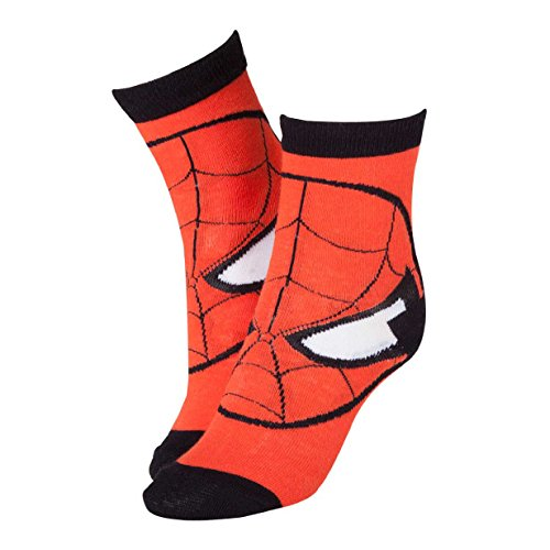 Marvel Masque Spiderman cr115907spn-43/46 Chaussettes Rouge (Taille 9–11/L)