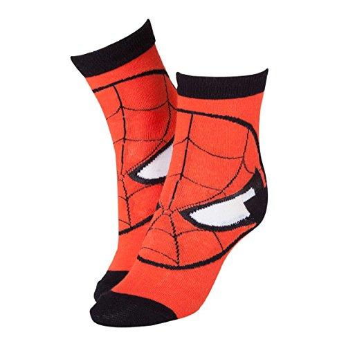 Marvel Rote Socken Spiderman Maske CR115907SPN-39/42(Größe 6–8/Mittel)