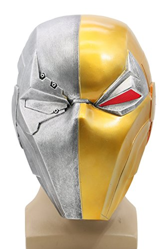 Xcoser Deathstroke Helmet Mask Props with LED Light for Halloween Costume Adult