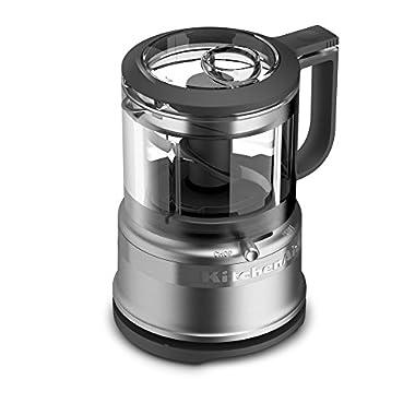 KitchenAid KFC3516CS 3.5 Cup Mini Food Processor, Cocoa Silver