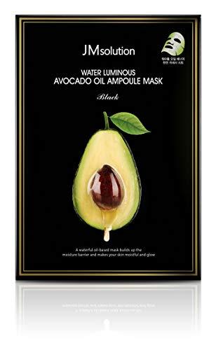 JM Solution Water Luminous Avocado Oil Ampoule Mask Black (Pack of 10)