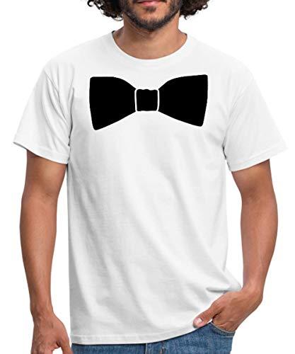 Fliege | Schleife | Binder Männer T-Shirt, 3XL, Weiß